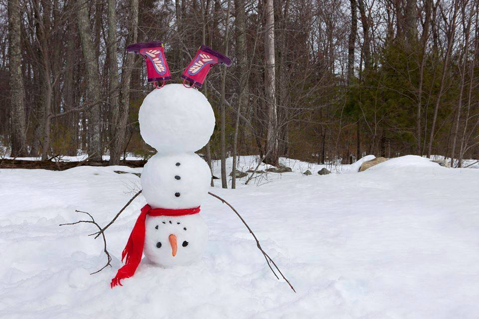 Snowman on the head